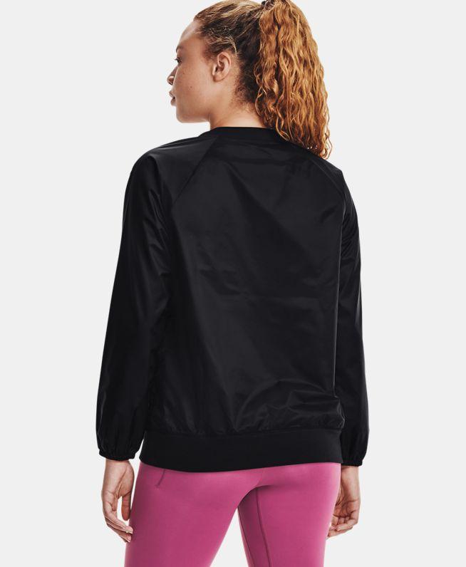 女士UA RECOVER Shine梭织圆领运动衣