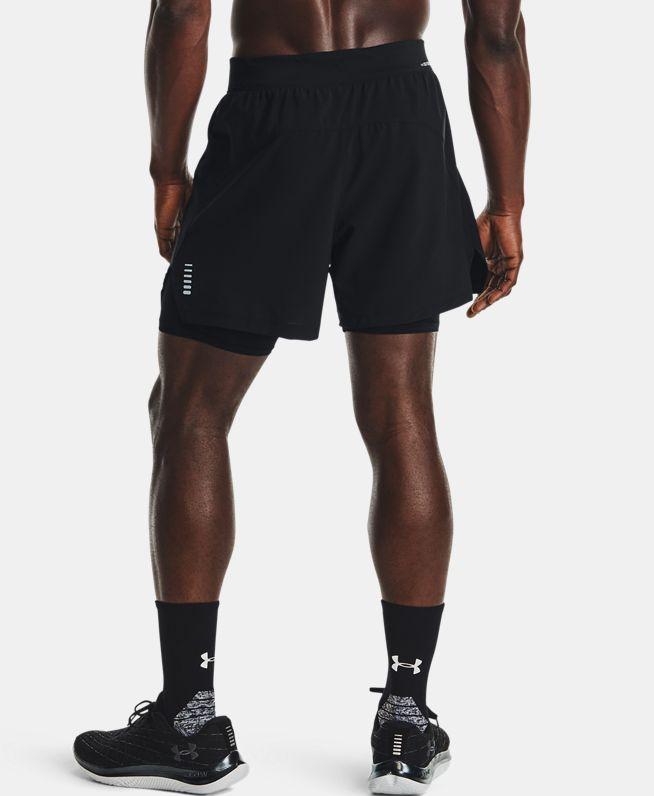 男士UA Iso-Chill二合一跑步短裤