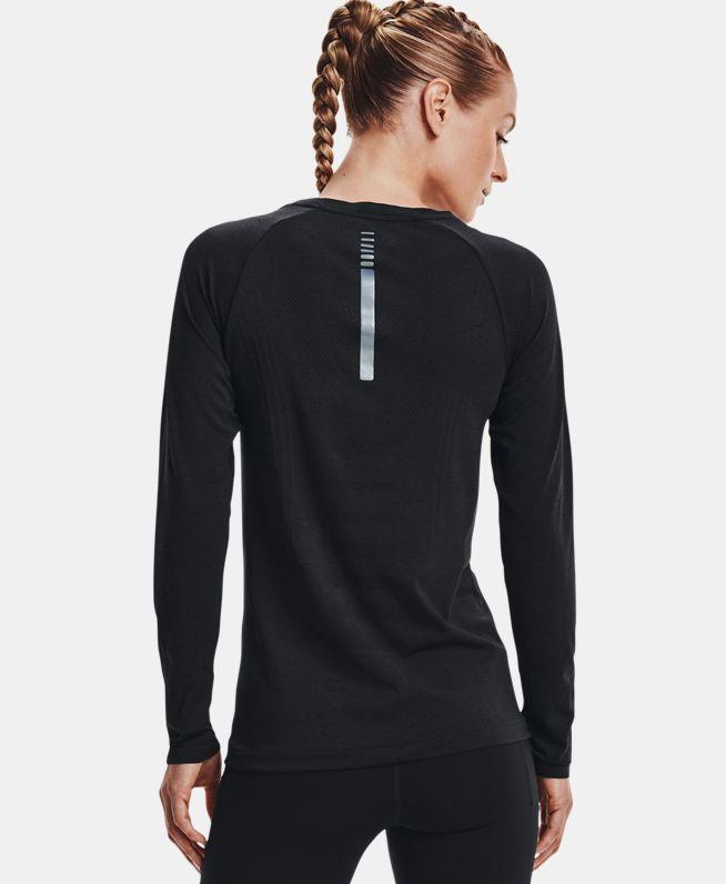 女士UA Seamless跑步长袖上衣