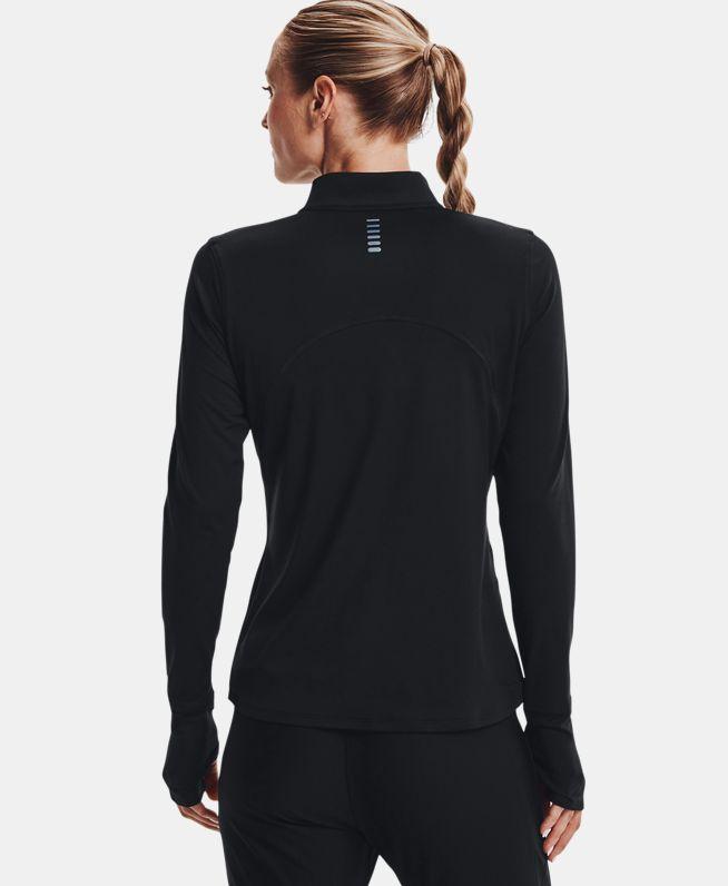 女士UA Qualifier 2.0 1/2拉链跑步运动上衣