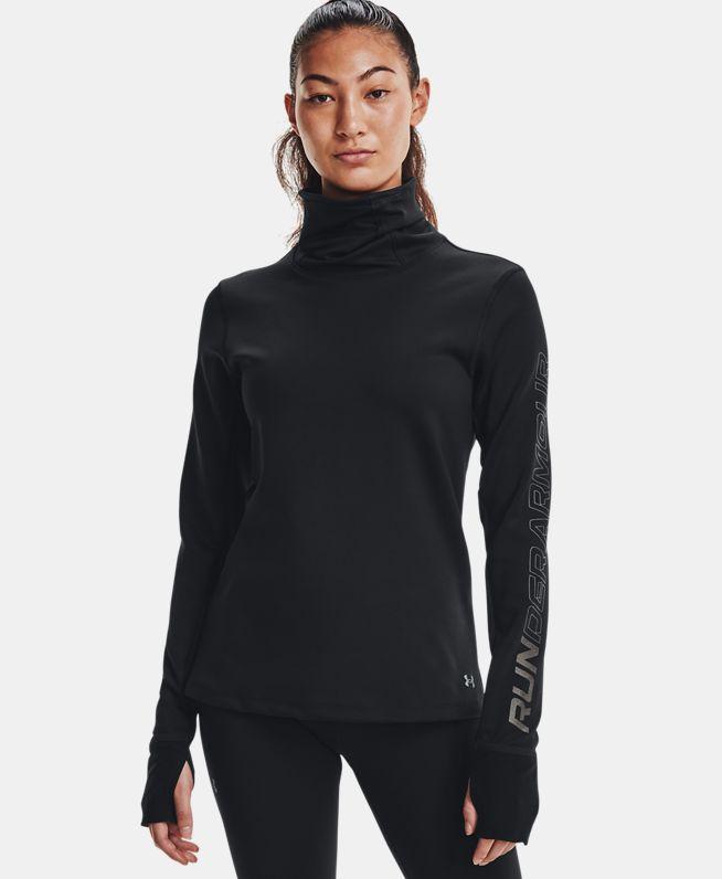 女士UA Empowered漏斗领运动上衣
