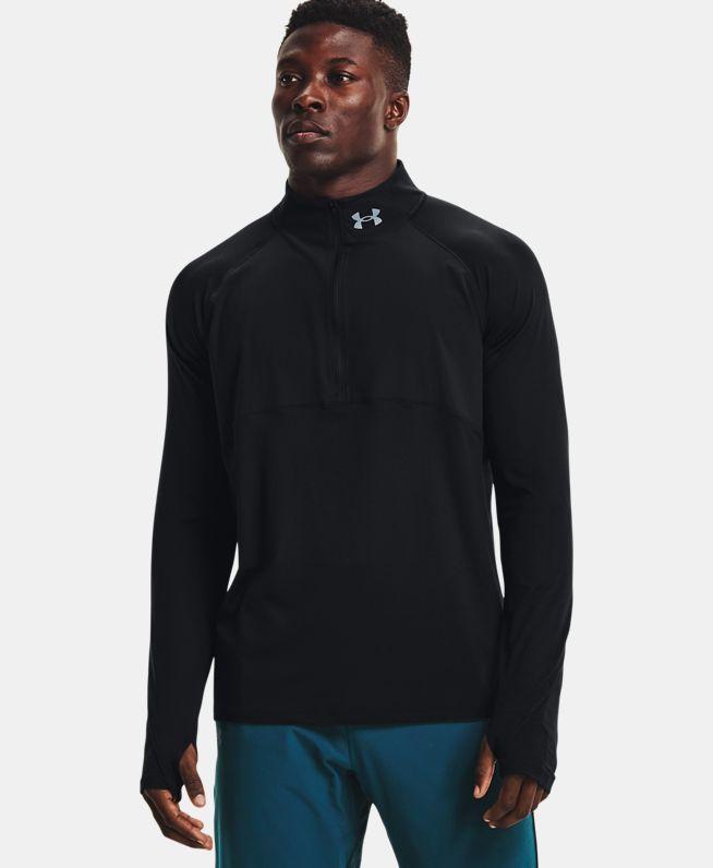 男士UA Qualifier 2.0 1/2拉链跑步运动上衣