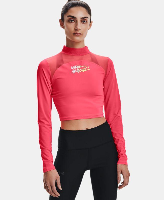 女士HeatGear® Crop高领运动衣
