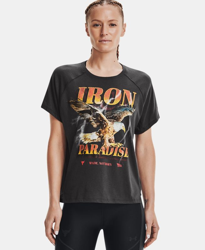 女士Project Rock强森Iron Paradise短袖T恤