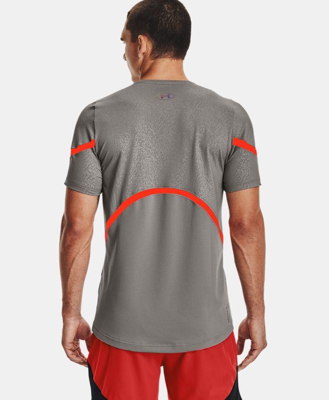 男士UA RUSH HeatGear® 2.0 Emboss短袖T恤