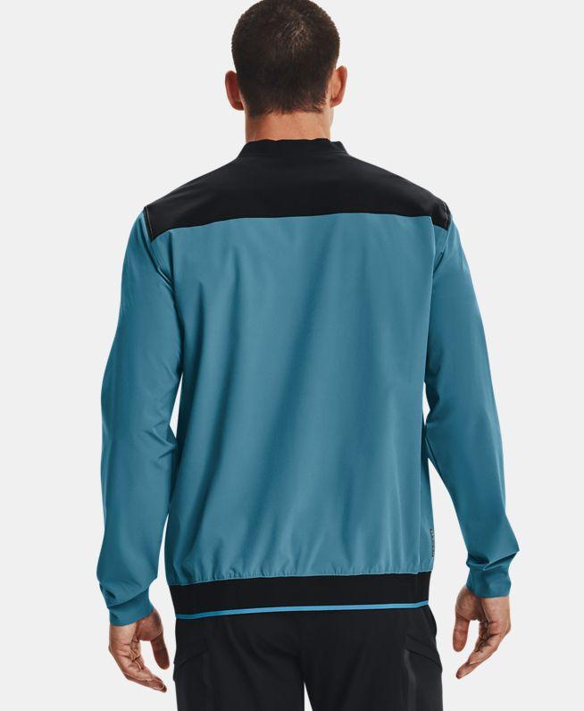 男士UA RUSH Stretch梭织圆领运动衣