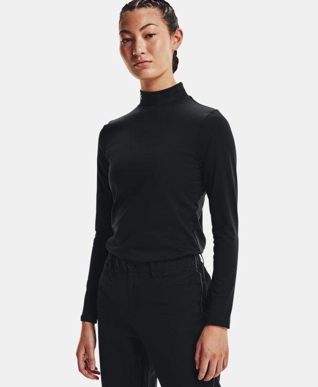 女士UA ColdGear® Infraredd Storm高领高尔夫长袖上衣