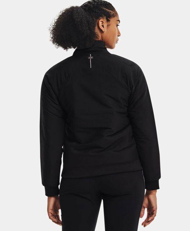女士UA Insulate高尔夫全拉链运动上衣