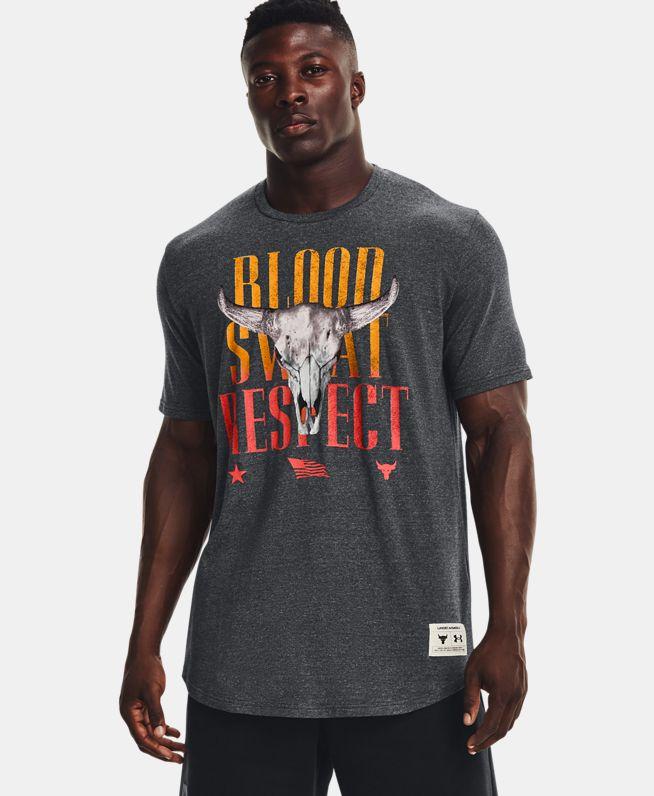 男士Project Rock强森Outlaw BSR短袖T恤
