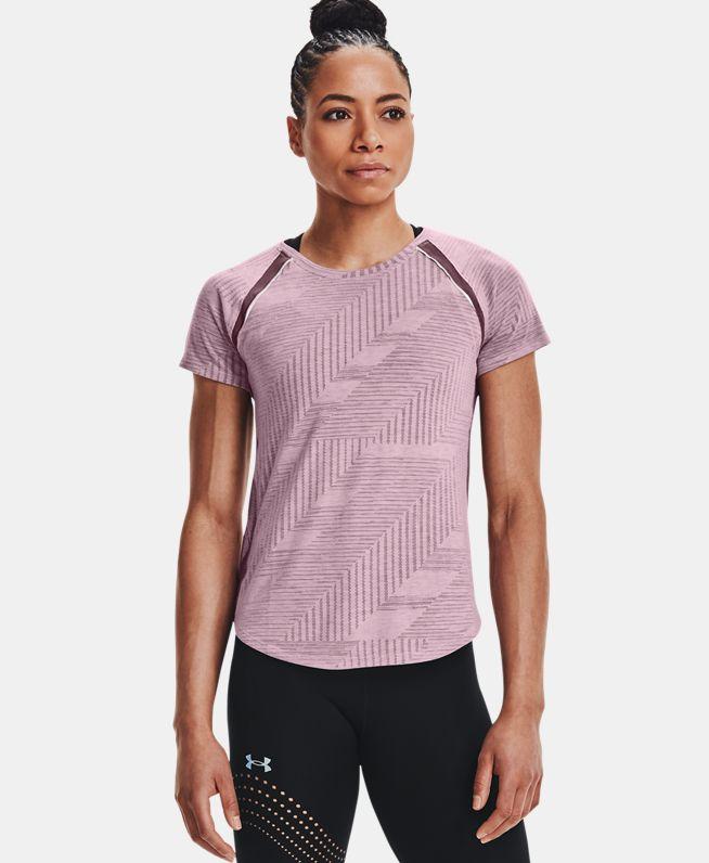 女士UA Streak Phantom跑步短袖T恤