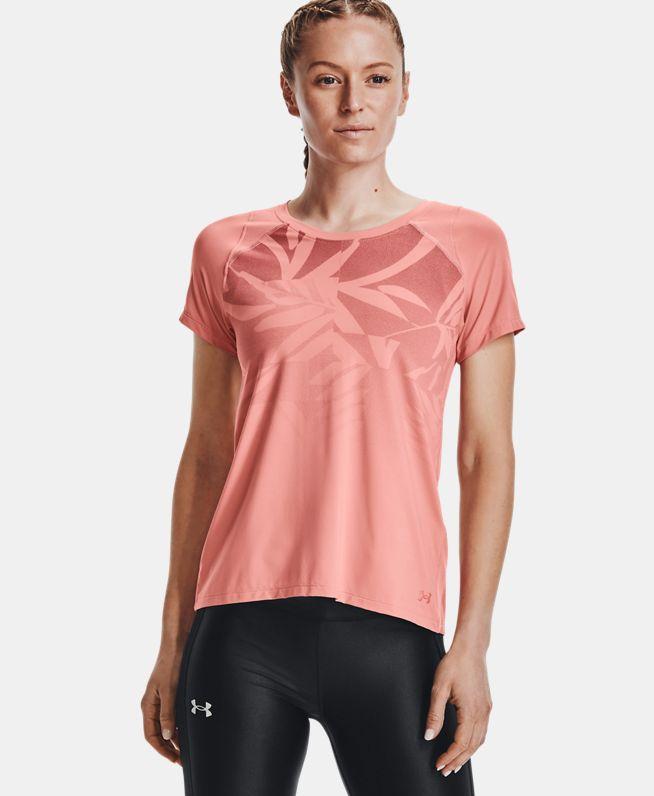女士UA Iso-Chill跑步短袖T恤
