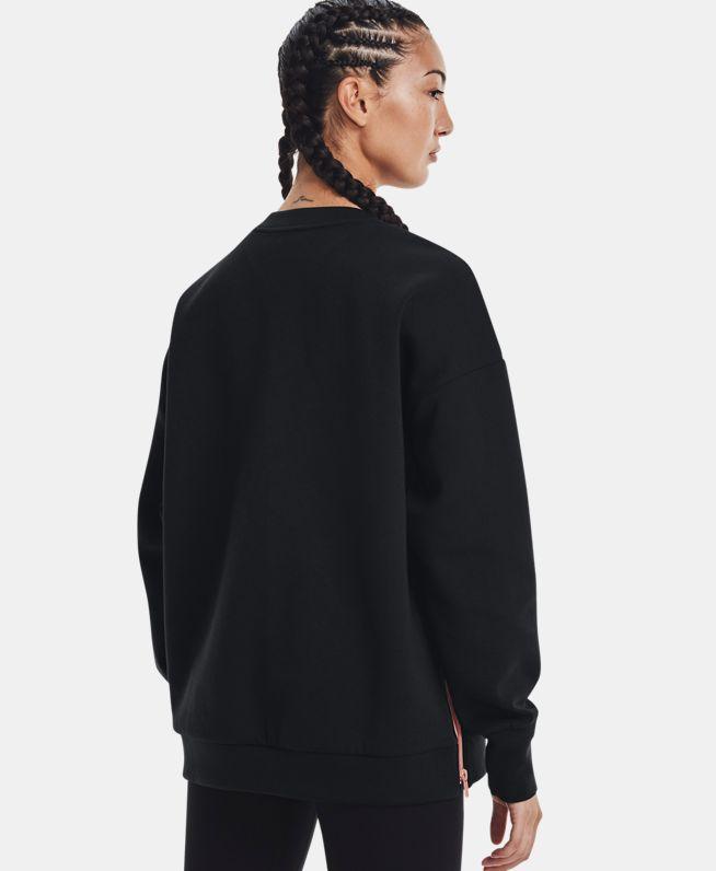 女士UA Summit Oversize Crew针织圆领运动衣