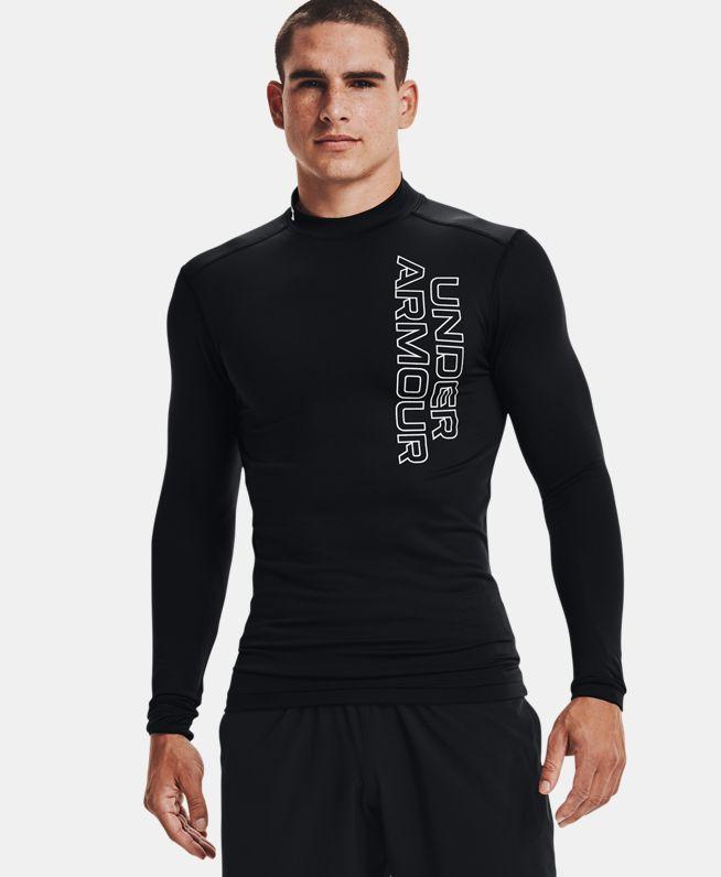 男士UA ColdGear® Armour Graphic高领长袖紧身衣